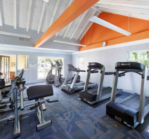 on-site fitness center in Palymra apartment building