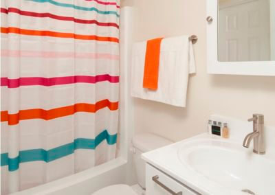 Spacious bathroom at Korman Residential at Willow Shores.