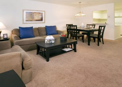 Fully furnished  living room and corporate apartment in Palmyra, NJ.