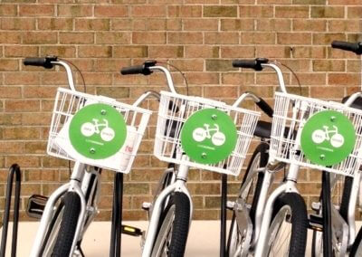three bikes lined up - Korman Residential bike share program