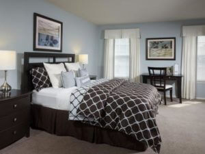furnished apartment bedroom at Korman Residential at Willow Shores